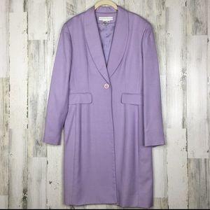 100% silk Lavender Duster Blazer Jacket Size 12